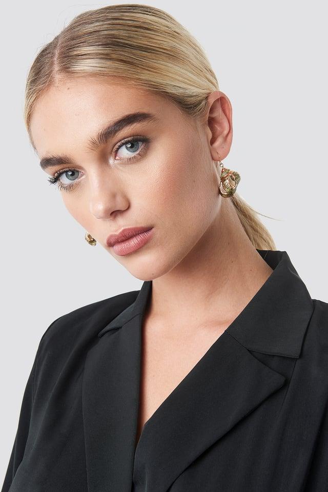 Green Shell Earrings Green