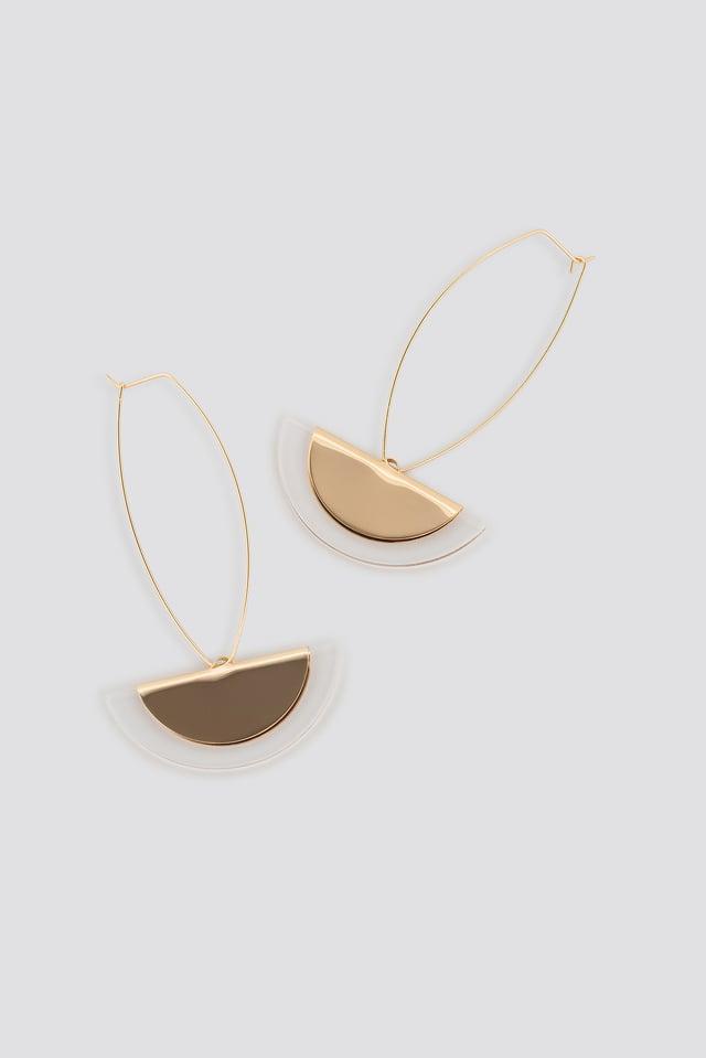 Halfmoon Drop Earrings Gold