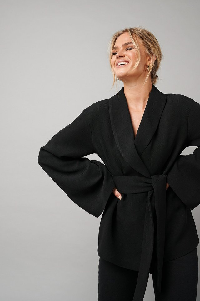 Kimono Blazer Black