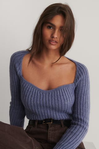 Lilac Heartshaped LS Sweater