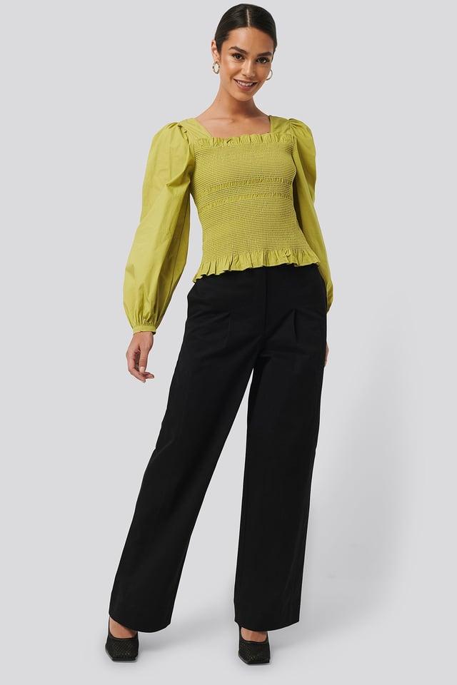 Heavy Cotton-blend Pants Black