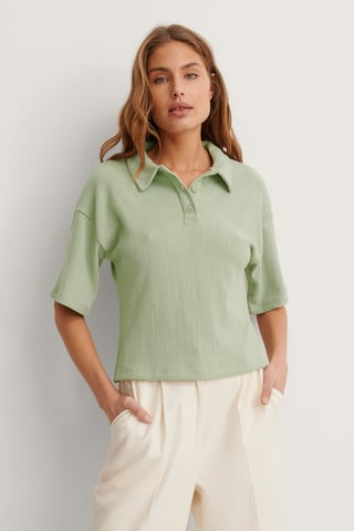 Green Resirkulert Jersey-topp