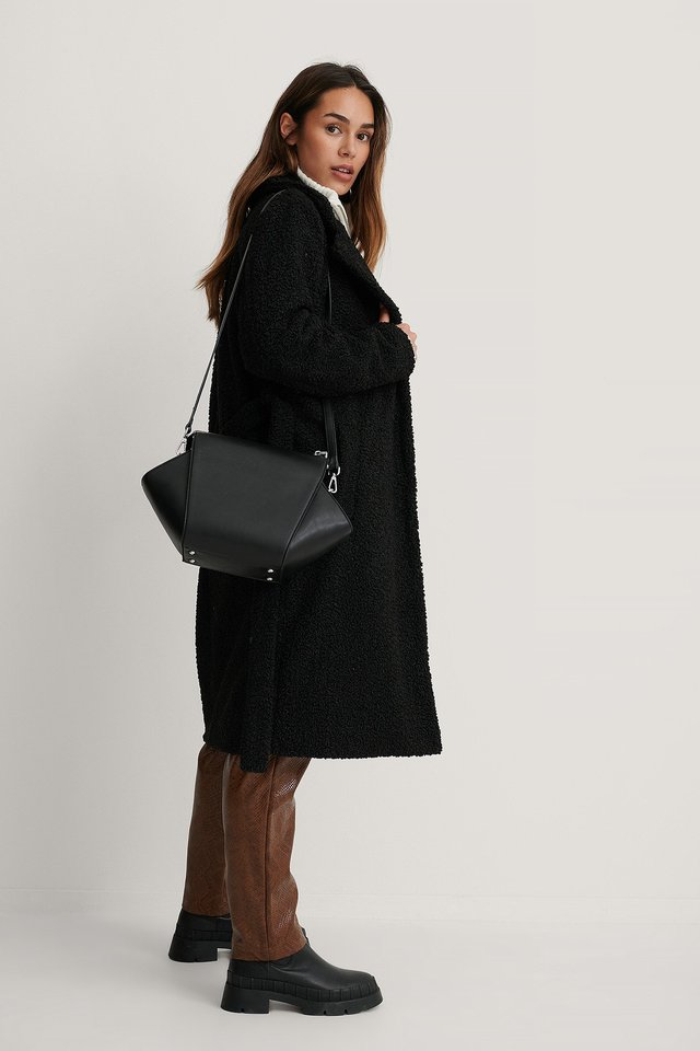 Black Hexagon Shoulder Bag