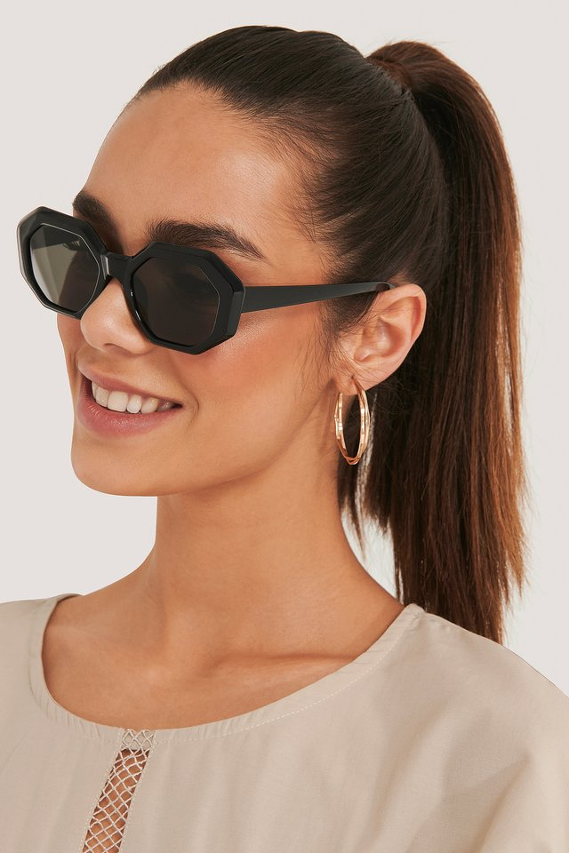 Hexagon Sunglasses Black