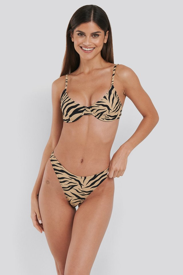 High Cut Bikini Panty Zebra