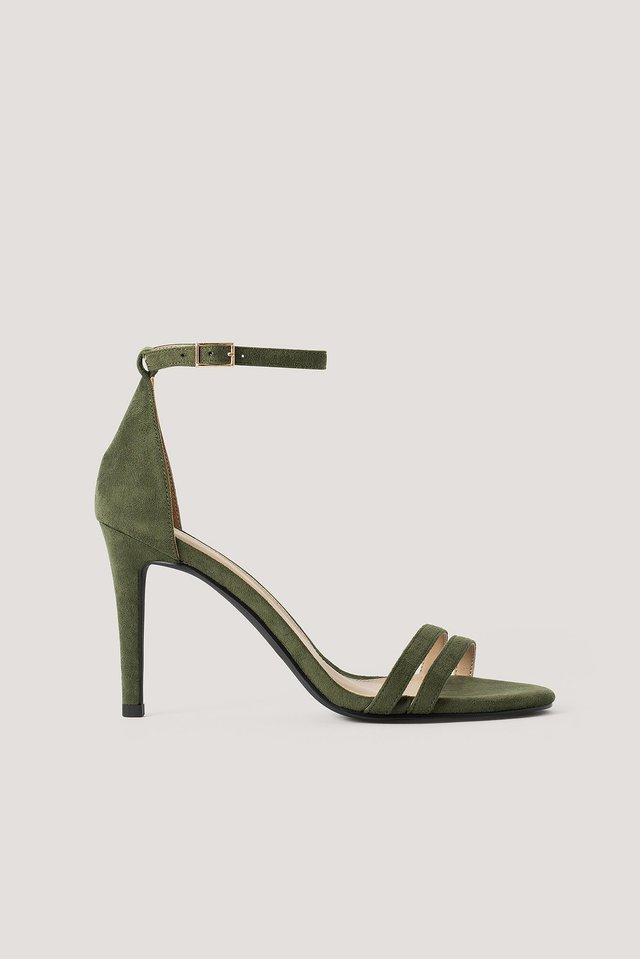 High Heel Stiletto Sandals Khaki