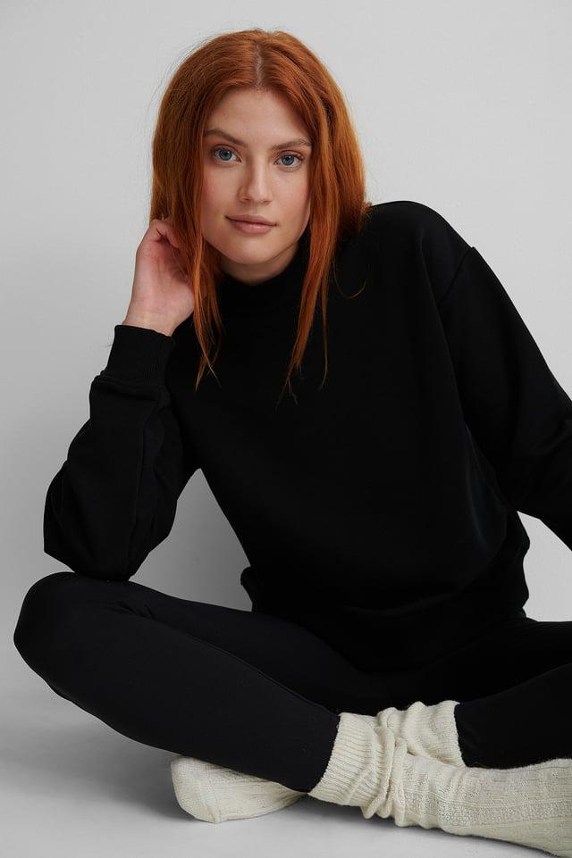 Ekologisk Sweatshirt Black