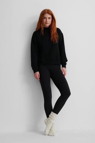 Black Økologisk Sweatshirt