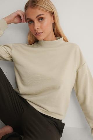 Beige Økologisk Sweatshirt
