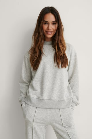 Grey Melange Økologisk Sweatshirt