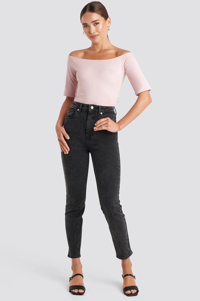 High Waist Skinny Fit Jeans NA-KD Trend