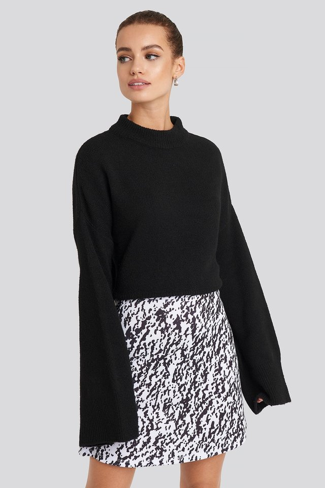 High Waist A-Line Skirt Leopard
