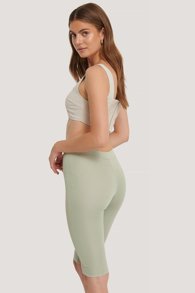 High Waist Capri Pants Khaki