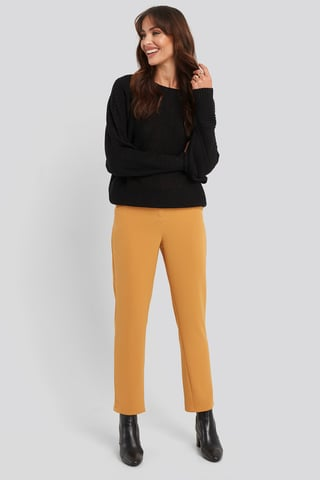 Yellow High Waist Suit Trousers