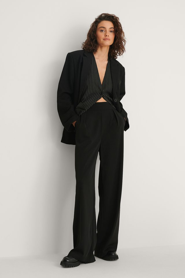 High Waisted Wide Leg Suit Pants NA-KD Classic