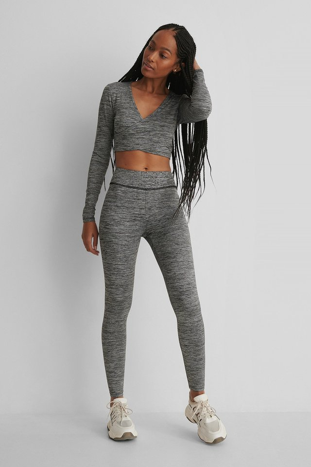 Highwaist Sporty Tights Grey Melange
