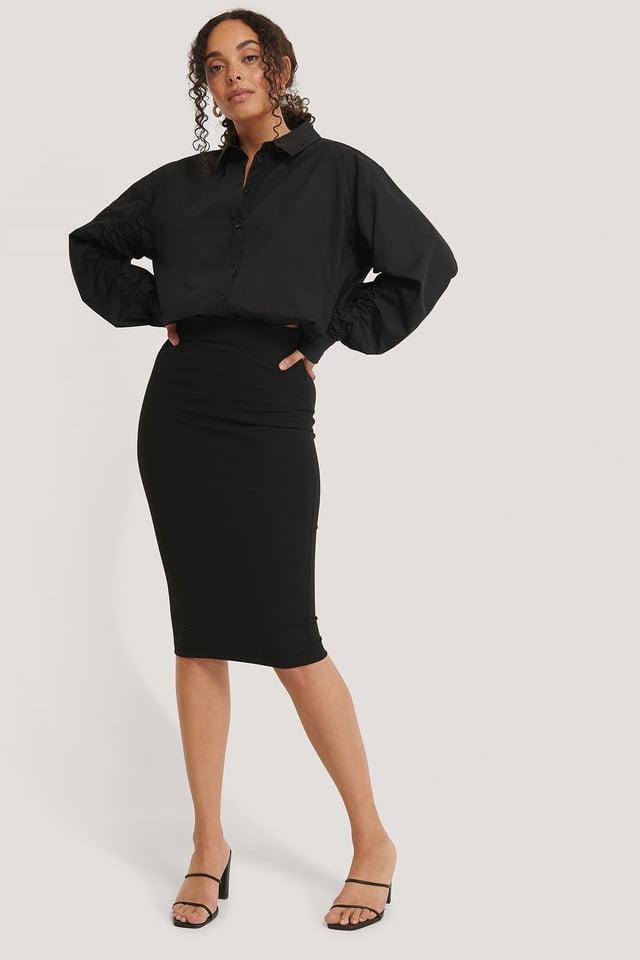 Highwaist Pencil Skirt Black