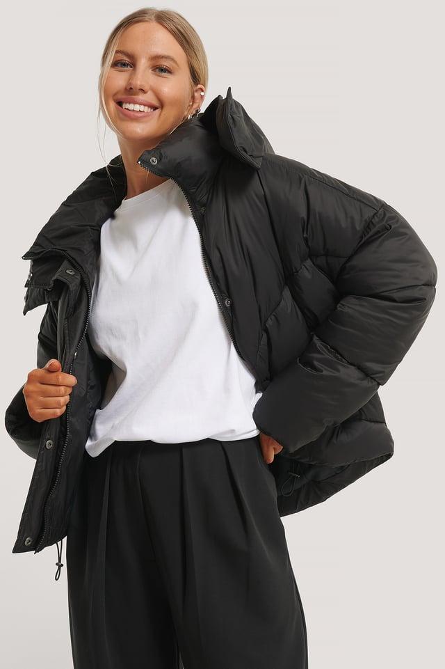Hood Padded Jacket Black