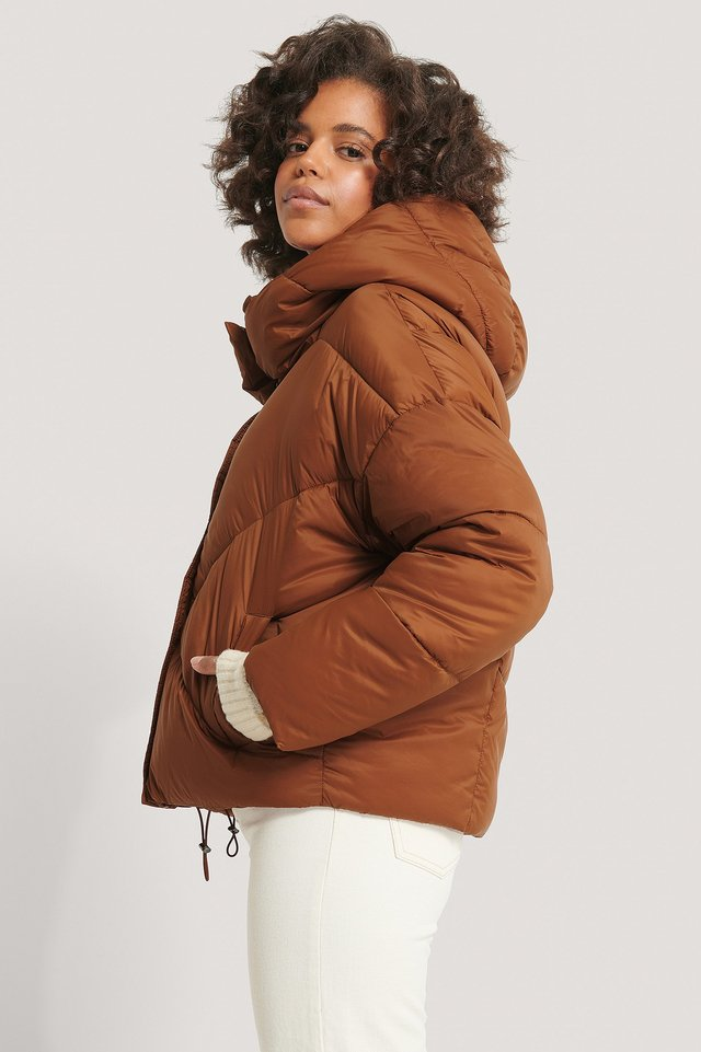 Hood Padded Jacket Rust