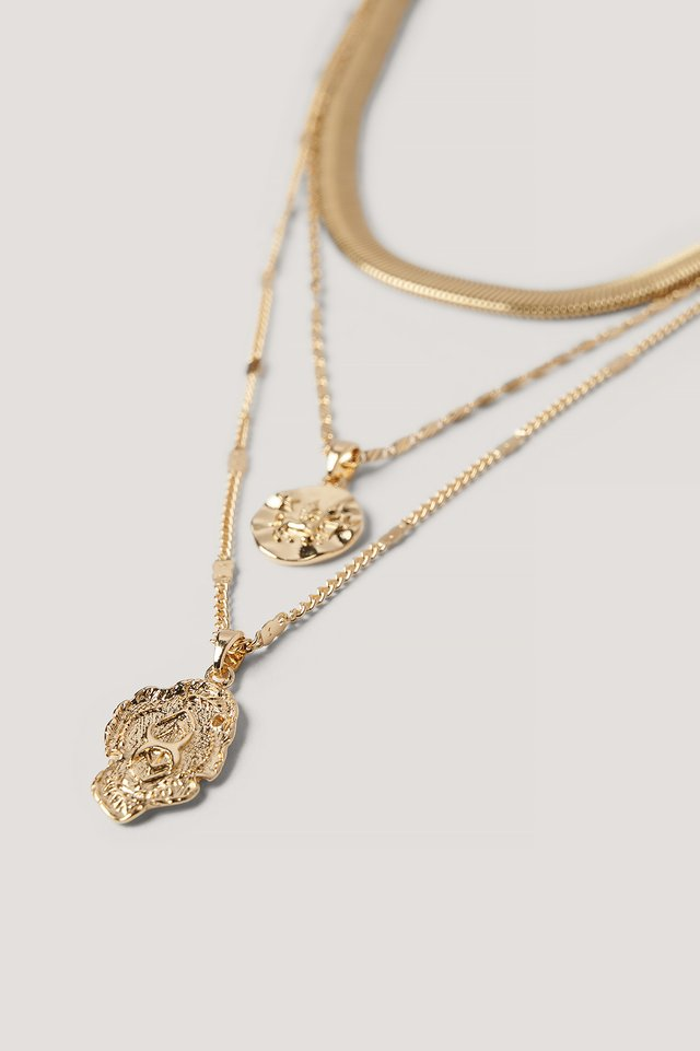3-pack Necklace Gold