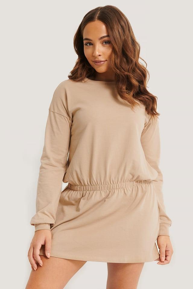 Jersey Skirt Dress Beige