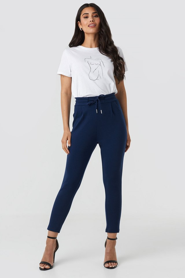Jogger Waist Trousers Navy
