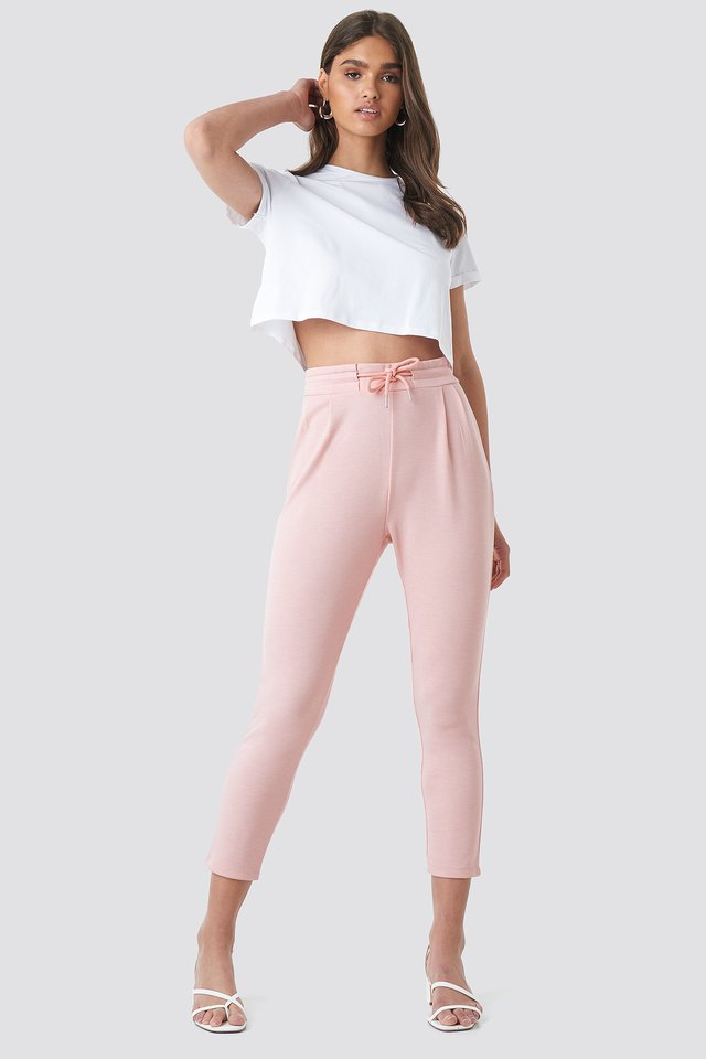 Jogger Waist Trousers Pink