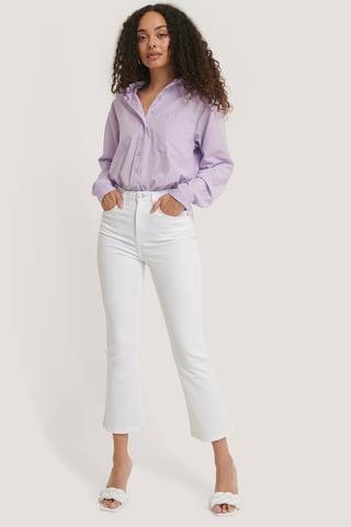 White Skinny Jeans Med Svaj