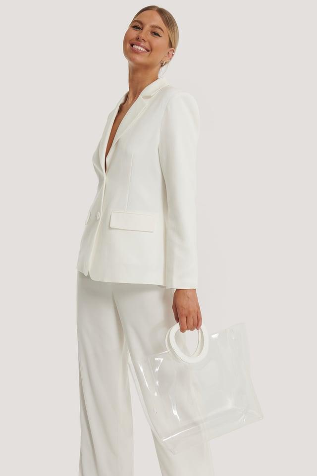 Transparent Väska White