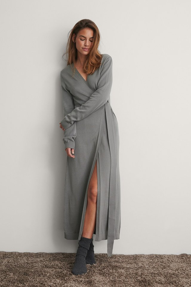 Grey Strickkleid