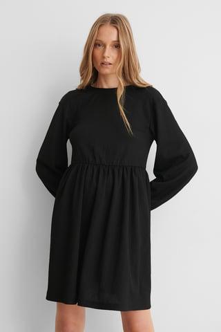 Black Knot Back Detail Dress