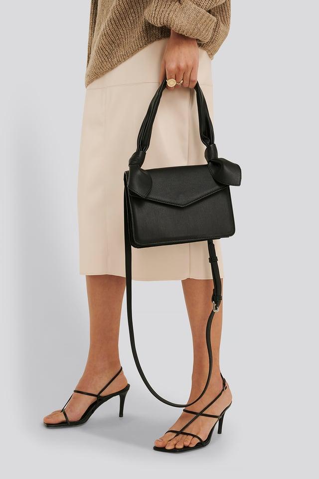 Knot Envelope Crossbody Bag Black
