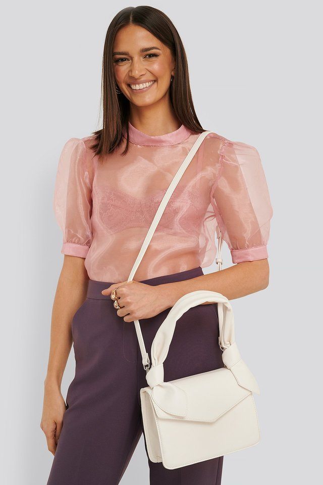 Offwhite Knot Envelope Crossbody Bag