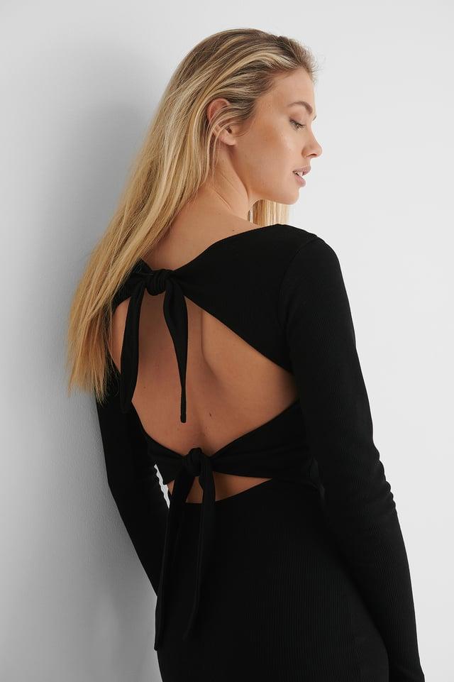 Vestido Mini Con Detalle De Nudos Black