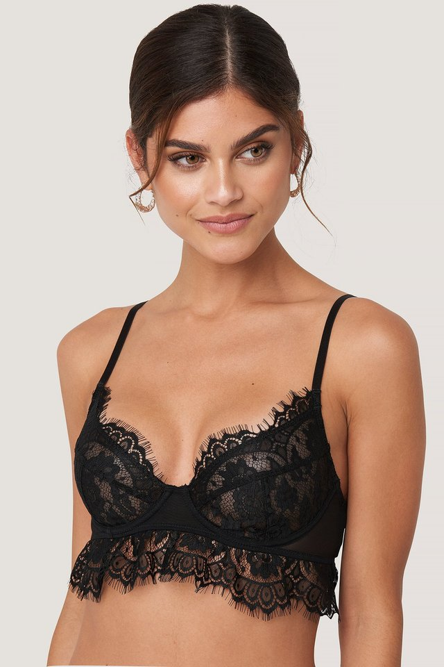 Lace Cup Bra Black