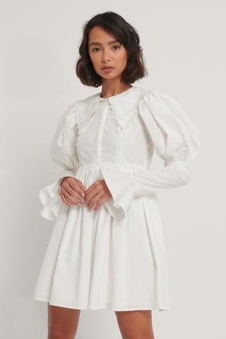 White Shirtjurk Met Kanten Detail