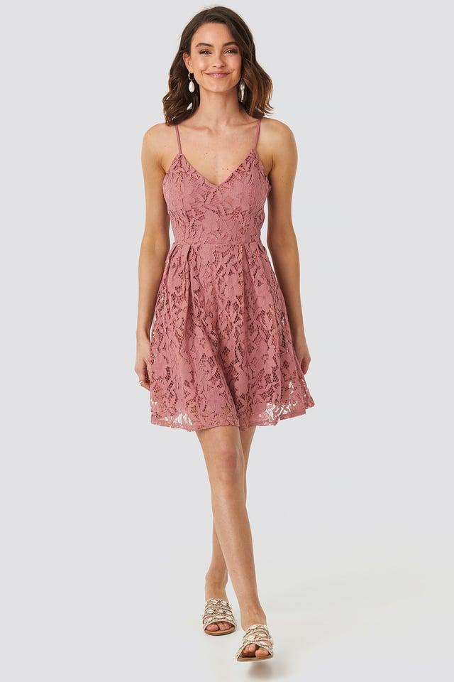 Rose Pink Minispódniczka