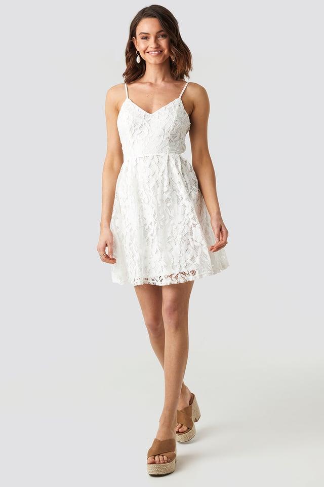 White Miniklänning
