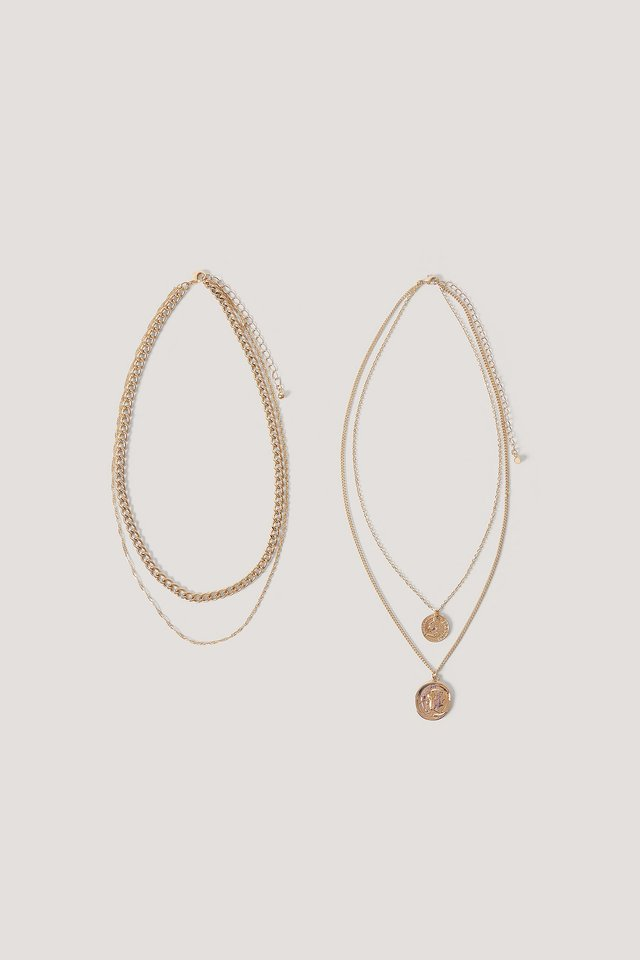 Layered Coin And Chain Necklaces NA-KD Accessories