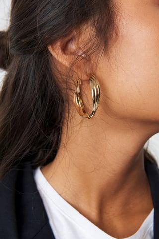 Gold Vridna Hoopörhängen