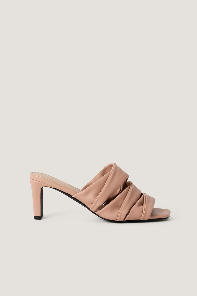 Dusty Pink Layered Upper Mules