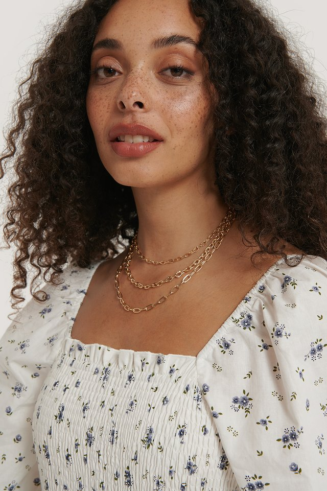 Layered Variety Chain Necklaces Gold