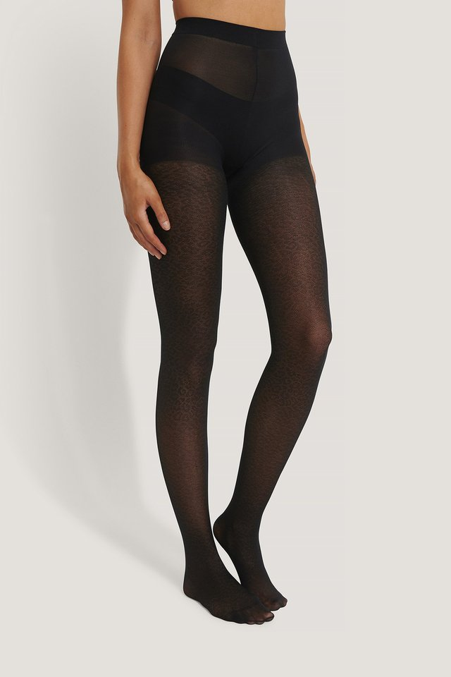 Recycled Leo Tights 50 DEN Black