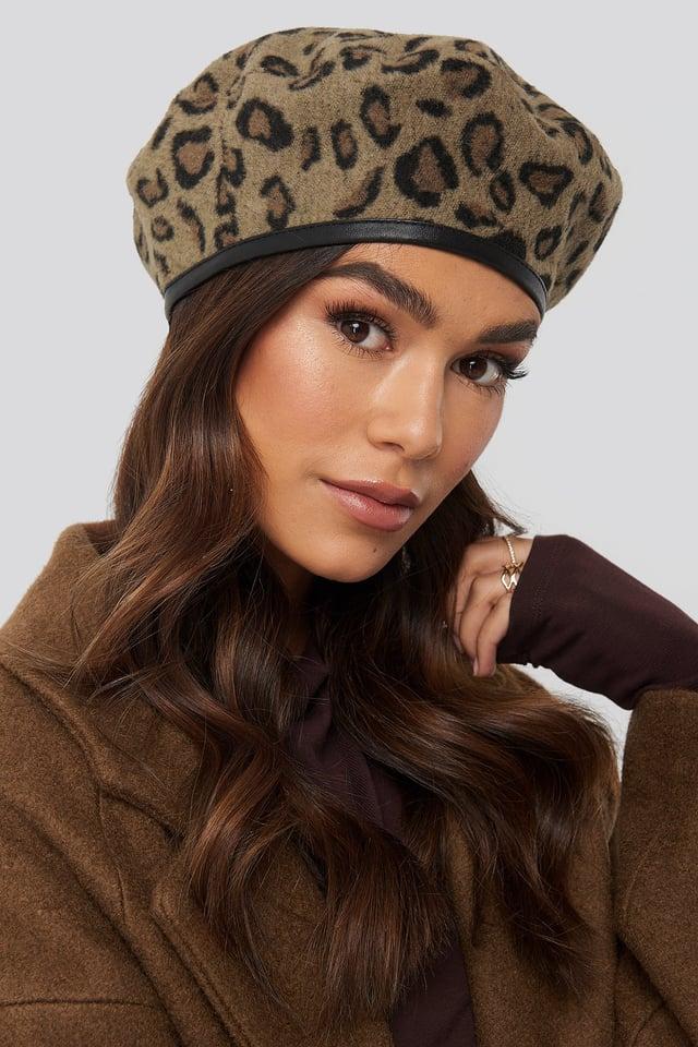 Leopard Beret Hat Leopard