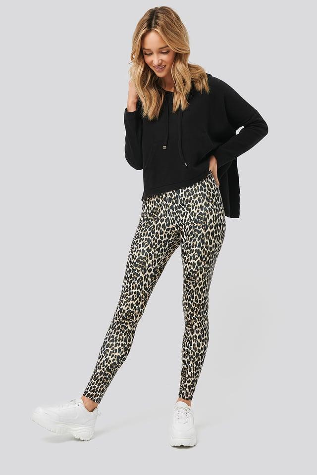 Leopard Print Leggings Brown Leopard