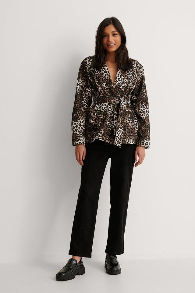 Leopard Leopard Shirt Jacket
