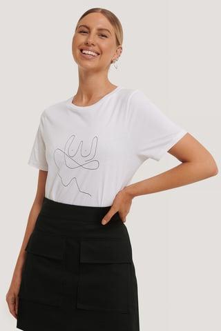 Optical White Line T-shirt
