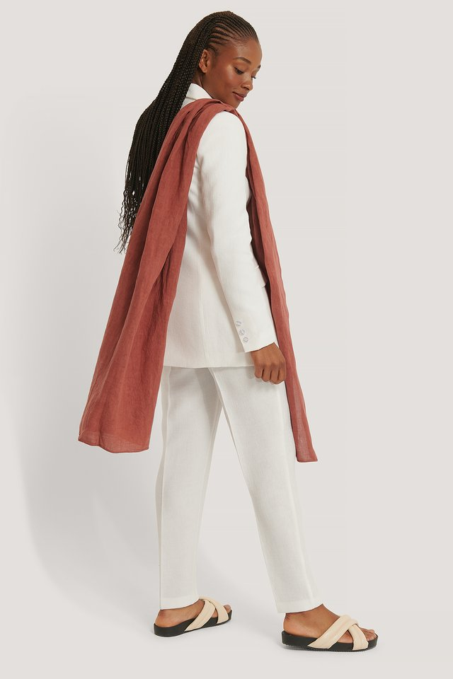 Linen Blanket Scarf Rosewood