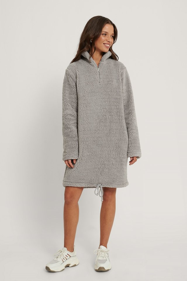 Fleece Dress Grey