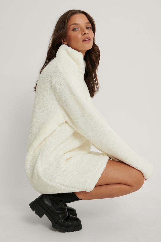 Fleece Dress Offwhite
